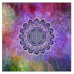 Flower Of Life Indian Ornaments Mandala Universe Large Satin Scarf (Square) Front