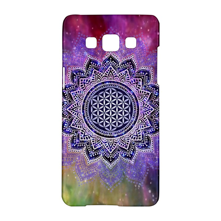 Flower Of Life Indian Ornaments Mandala Universe Samsung Galaxy A5 Hardshell Case