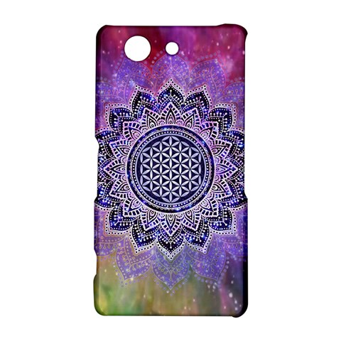 Flower Of Life Indian Ornaments Mandala Universe Sony Xperia Z3 Compact