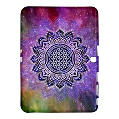 Flower Of Life Indian Ornaments Mandala Universe Samsung Galaxy Tab 4 (10.1 ) Hardshell Case