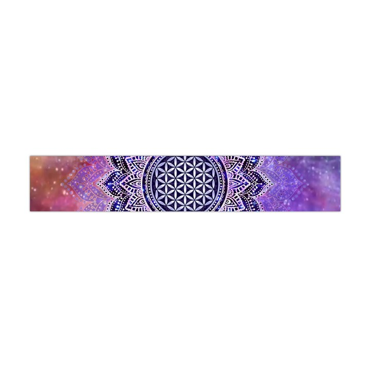Flower Of Life Indian Ornaments Mandala Universe Flano Scarf (Mini)