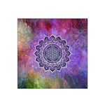 Flower Of Life Indian Ornaments Mandala Universe Satin Bandana Scarf Front