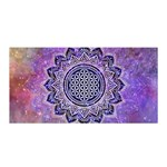 Flower Of Life Indian Ornaments Mandala Universe Satin Wrap Front