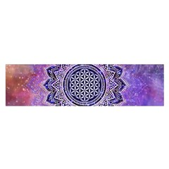 Flower Of Life Indian Ornaments Mandala Universe Satin Scarf (oblong)