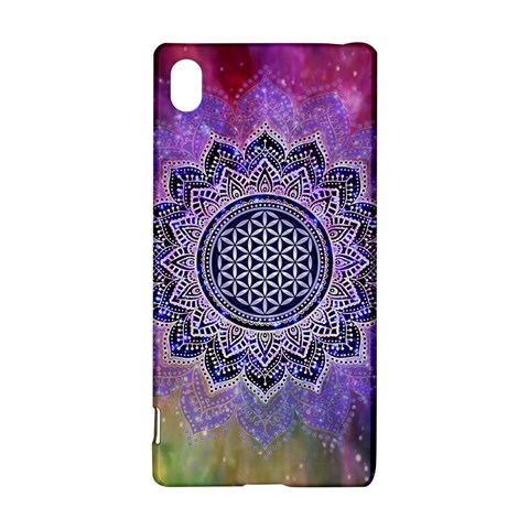 Flower Of Life Indian Ornaments Mandala Universe Sony Xperia Z3+