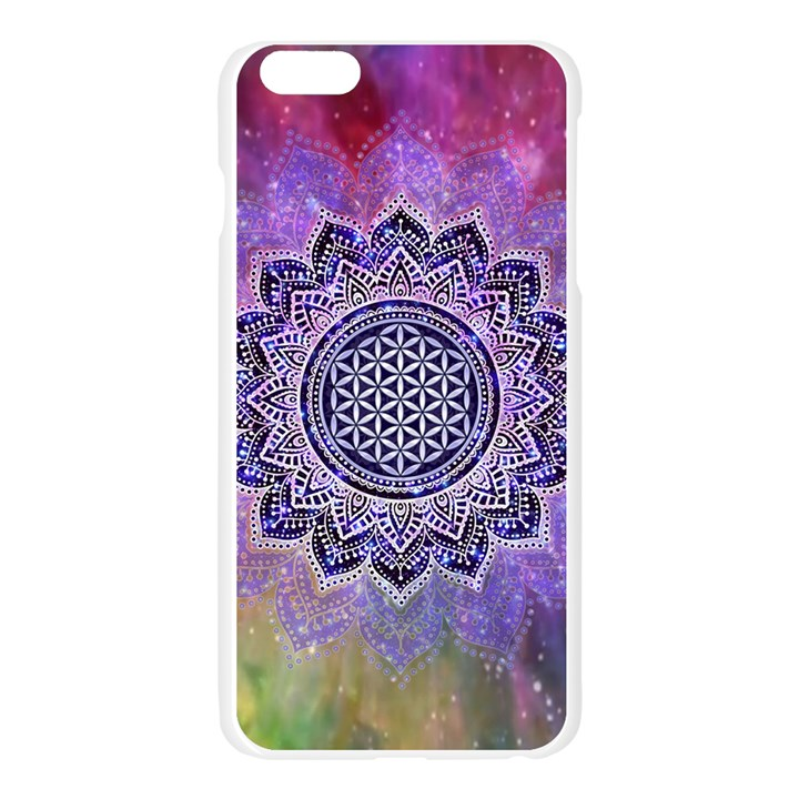Flower Of Life Indian Ornaments Mandala Universe Apple Seamless iPhone 6 Plus/6S Plus Case (Transparent)