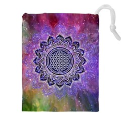 Flower Of Life Indian Ornaments Mandala Universe Drawstring Pouches (xxl)