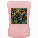 Fractal Batik Art Teal Turquoise Salmon Women s Pink Tank Top Back