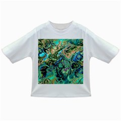 Fractal Batik Art Teal Turquoise Salmon Infant/Toddler T-Shirts