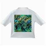 Fractal Batik Art Teal Turquoise Salmon Infant/Toddler T-Shirts Back