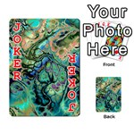 Fractal Batik Art Teal Turquoise Salmon Playing Cards 54 Designs  Front - Joker2