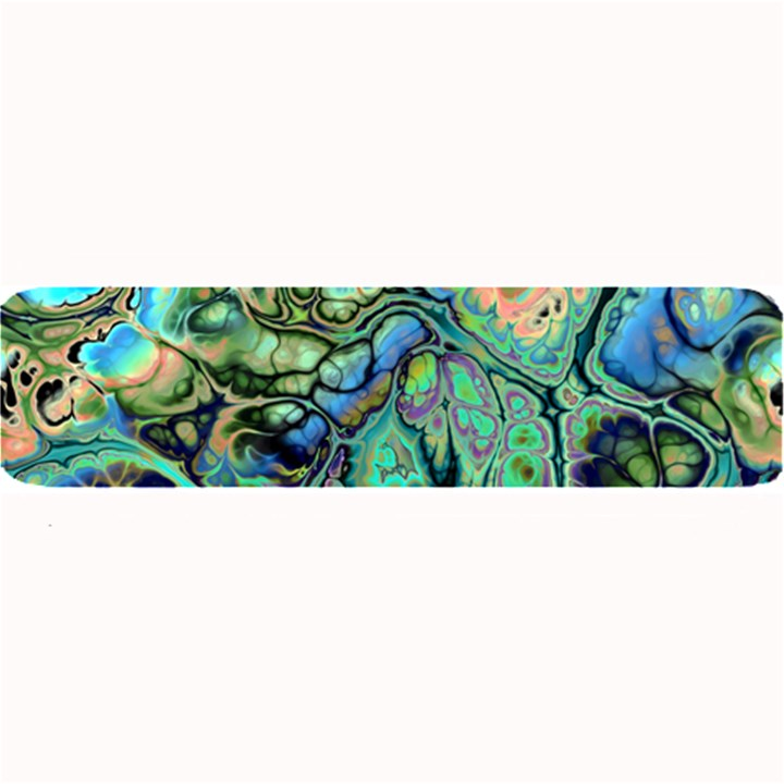 Fractal Batik Art Teal Turquoise Salmon Large Bar Mats