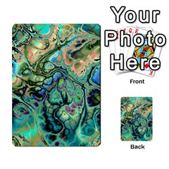 Fractal Batik Art Teal Turquoise Salmon Multi Purpose Cards (rectangle)