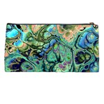 Fractal Batik Art Teal Turquoise Salmon Pencil Cases Back