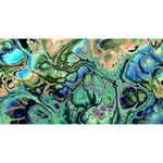 Fractal Batik Art Teal Turquoise Salmon Magic Photo Cubes Long Side 3