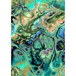 Fractal Batik Art Teal Turquoise Salmon BOY 3D Greeting Card (7x5) Inside