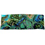 Fractal Batik Art Teal Turquoise Salmon Body Pillow Case Dakimakura (Two Sides) Back
