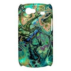 Fractal Batik Art Teal Turquoise Salmon Samsung Galaxy Nexus S i9020 Hardshell Case