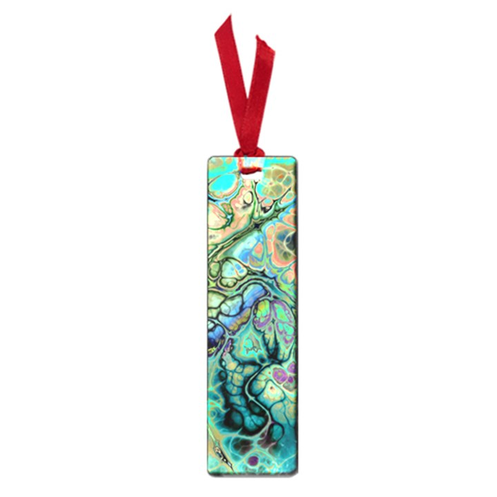 Fractal Batik Art Teal Turquoise Salmon Small Book Marks