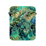 Fractal Batik Art Teal Turquoise Salmon Apple iPad 2/3/4 Protective Soft Cases Front