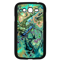 Fractal Batik Art Teal Turquoise Salmon Samsung Galaxy Grand Duos I9082 Case (black)