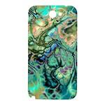 Fractal Batik Art Teal Turquoise Salmon Samsung Note 2 N7100 Hardshell Back Case Front