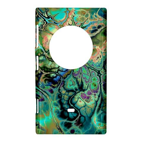 Fractal Batik Art Teal Turquoise Salmon Nokia Lumia 1020