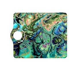 Fractal Batik Art Teal Turquoise Salmon Kindle Fire HDX 8.9  Flip 360 Case