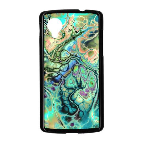 Fractal Batik Art Teal Turquoise Salmon Nexus 5 Case (Black)