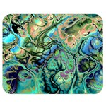 Fractal Batik Art Teal Turquoise Salmon Double Sided Flano Blanket (Medium)  60 x50 Blanket Back