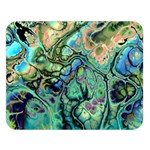 Fractal Batik Art Teal Turquoise Salmon Double Sided Flano Blanket (Large)  80 x60 Blanket Front