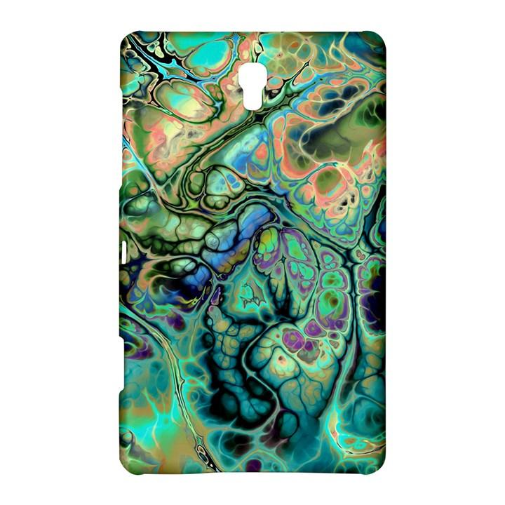 Fractal Batik Art Teal Turquoise Salmon Samsung Galaxy Tab S (8.4 ) Hardshell Case