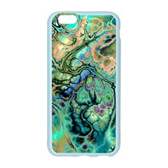 Fractal Batik Art Teal Turquoise Salmon Apple Seamless iPhone 6/6S Case (Color)