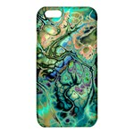 Fractal Batik Art Teal Turquoise Salmon iPhone 6/6S TPU Case Front