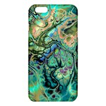 Fractal Batik Art Teal Turquoise Salmon iPhone 6 Plus/6S Plus TPU Case Front