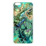 Fractal Batik Art Teal Turquoise Salmon Apple Seamless iPhone 6 Plus/6S Plus Case (Transparent) Front