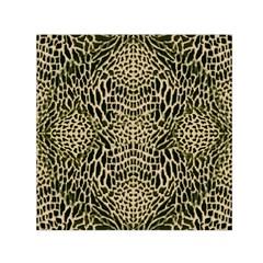 Brown Reptile Small Satin Scarf (square)