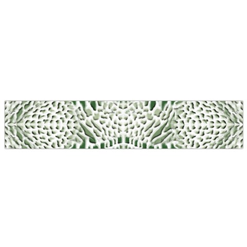 GREEN SNAKE TEXTURE Flano Scarf (Small)
