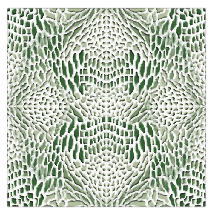 GREEN SNAKE TEXTURE Large Satin Scarf (Square)