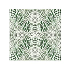 Green Snake Texture Small Satin Scarf (square)