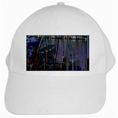 Christmas Boats In Harbor White Cap