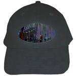 Christmas Boats In Harbor Black Cap Front
