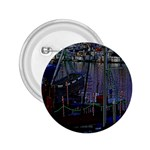 Christmas Boats In Harbor 2.25  Buttons Front