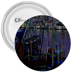 Christmas Boats In Harbor 3  Buttons