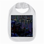 Christmas Boats In Harbor Bib Front