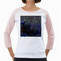 Christmas Boats In Harbor Girly Raglans