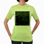 Christmas Boats In Harbor Women s Green T-Shirt Front