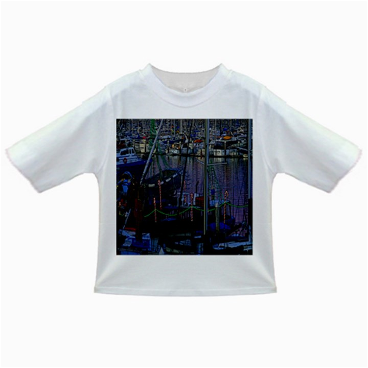 Christmas Boats In Harbor Infant/Toddler T-Shirts