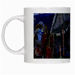 Christmas Boats In Harbor White Mugs Left