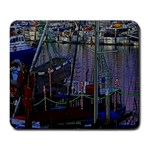 Christmas Boats In Harbor Large Mousepads Front